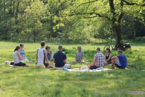 mindfulness bij het sponsorfestival